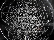 神聖幾何学クリスタルグリッドボード|ペンタグラム(ex2)|アクリル製|Lサイズ(20cm)