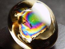 レインボー水晶(スモーキー)|右水晶|カボション 22.5mm 7.1g|No.1