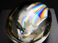 天然レインボー水晶|左水晶|カボション 25.7mm 8.6g|No.2