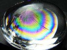 天然レインボー水晶|左水晶|カボション 28mm 14g|No.3