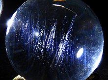 高品質エンジェルラダークォーツ No.40|日本製無垢水晶玉|右水晶 25mm|天然スパイラル水晶