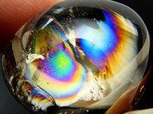 天然レインボー水晶(ライトスモーキー)|右水晶|カボション 26mm 11.9g|No.6