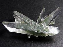 マニハール産ヒマラヤ水晶|グリーンファントムクォーツ|原石ミニクラスター|20.9g No3
