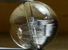 プラチナルチルクォーツ|クォーツインクォーツ|双晶 11mm|天然スパイラル水晶|粒売りビーズ No.1