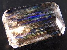 宝石質レインボースキャポライト|タンザニア産|レクタングル 10mm 2ct|No.3
