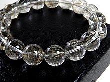 宝石質シルバールチルクォーツ|右水晶 11mm玉|スパイラル水晶|右手用ブレスレット