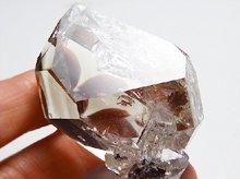 ハーキマーダイヤモンド|レインボー、ファントム、タイムリンク、クォーツインクォーツ|大型結晶原石|アメリカ産|53.5mm 67.8g|No.20