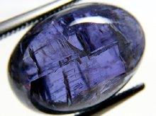 宝石質タンザナイト(非加熱バイカラー)|タンザニア産|オーバル カボション 14mm 9.4ct|No.6