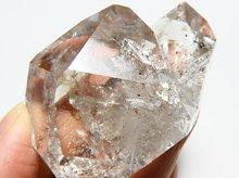ハーキマーダイヤモンド|レインボー|大型結晶原石|アメリカ産|69mm 112g|No.23