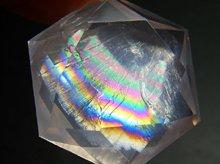 宝石質ローズクォーツ|六芒星カット|27mm