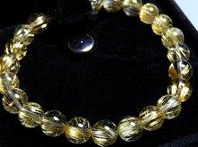 タイチン入り宝石質ゴールドルチルクォーツ|右水晶 8mm玉|スパイラル水晶|右手用ブレスレット No.2