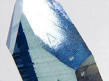 レコードキーパー多数!レムリアンシードクリスタル(アクアオーラ加工)|原石ポイント|セラデカブラル産|45mm