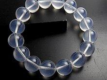 宝石質スター・ブルームーンクォーツ|リオグランデ・ド・スル産|12mm玉 左水晶|左手用ブレスレット