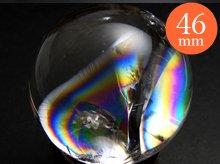 右水晶|天然レインボー水晶玉|46mm No.84|天然スパイラル水晶