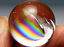 双晶|高品質レインボー水晶玉 24.8mm No.85|天然スパイラル水晶