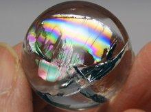 双晶|高品質レインボー水晶玉 24.5mm No.86|天然スパイラル水晶
