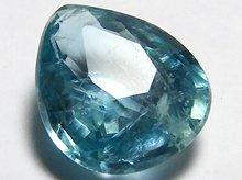 宝石質グランディディエライト|マダガスカル産|ペアシェイプ 7mm 0.8ct|No.1
