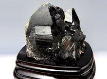 黒水晶(モリオン) 原石クラスター 山東省産 570g 専用台座付き No.2