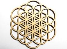 神聖幾何学クリスタルグリッドボード|フラワーオブライフ|天然木製|直径105mm