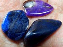 スギライト(ブルー、パープル、ブラック) タンブル3点セット 南アフリカ産
