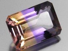 宝石質天然アメトリン|ボリビア産|ファセットカット|9×13mm 6.2ct No.12