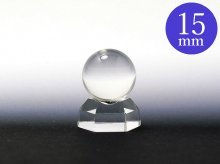 日本製無垢水晶玉|左水晶 15mm玉 5A|天然スパイラル水晶