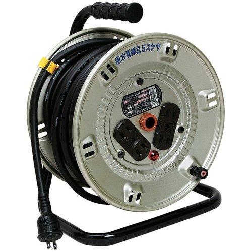 日動工業 極太電線仕様 電工ドラム NP-204F