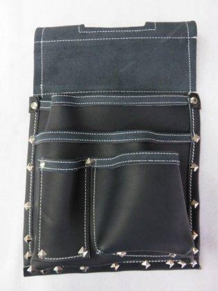 グローブ革 仮枠釘袋 黒 380×280 GN-D27