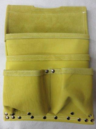 グローブ革 仮枠釘袋 ライム 420×290