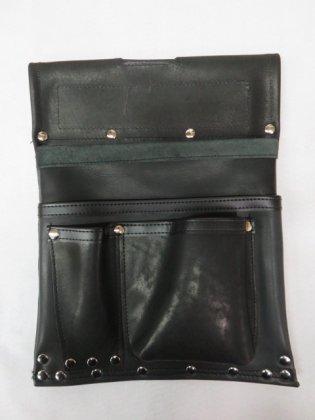 ヤマニ式 エバ皮 仮枠釘袋 400×300 ブラック