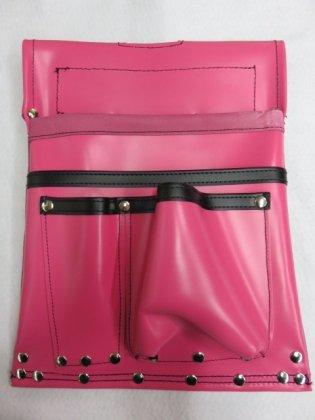 ヤマニ式 エバ皮 仮枠釘袋 400×300 ピンク