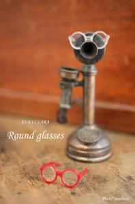 【即納品】Round glasses