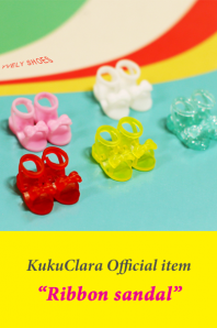 【Kuku Clara】Ribbon sandal(Official商品)