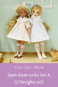 ★デットストック品★【Kuku Clara】Span Knee Socks Set A(Official商品)