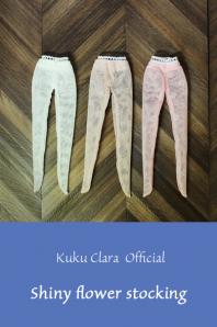 ★デットストック品★【Kuku Clara】Shiny flower stocking(Official商品)