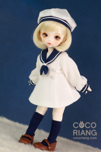 【SALE】White Sailor Uniform(COYO size)