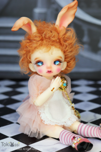 【即納品】Follow the white rabbit_Pale Ivory
