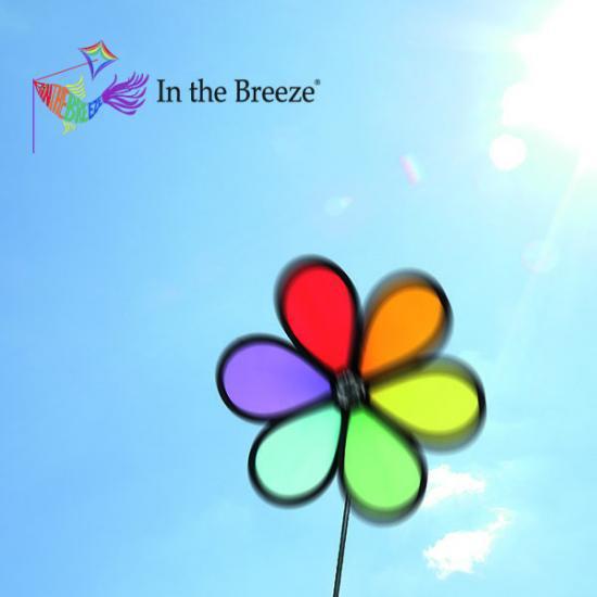 IN THE BREEZE ウィンドスピナー (風車)  レインボーフラワー2804