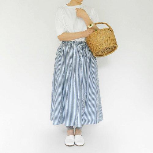 CHECK & STRIPE × くるみの木 / Gather Skirt