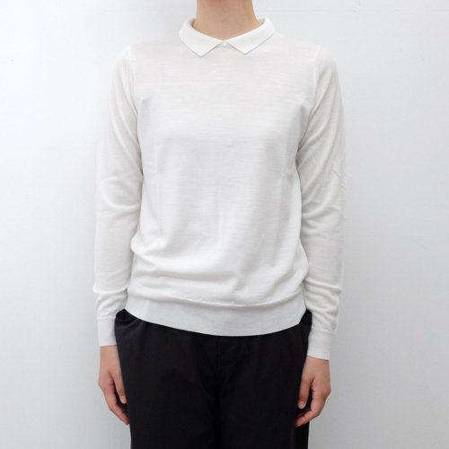JOHN SMEDLEY /  WOMENS SWEATER WITH COLLAR【A4493】<img class='new_mark_img2' src='https://img.shop-pro.jp/img/new/icons6.gif' style='border:none;display:inline;margin:0px;padding:0px;width:auto;' />