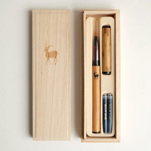 鹿紋の筆ペン