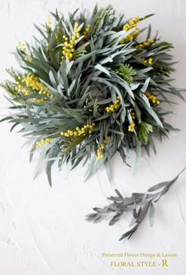 <img class='new_mark_img1' src='https://img.shop-pro.jp/img/new/icons14.gif' style='border:none;display:inline;margin:0px;padding:0px;width:auto;' />MIMOSA×Eucalyptus Nikoli Wreath ミモザ×ユーカリニコリリース