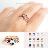 クアトロ  誕生石 バースストーン プリティ リング 14KGF / 14KRGF / S925 [Pretty Jewelry by ap] 海外受注