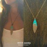 ウェーブ ブロンズ サーブ ネックレス from ハワイ [Wave Jewelry by MS] 海外受注