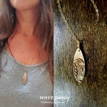 ウェーブ ブロンズ サーブ ネックレスII from ハワイ [Wave Jewelry by MS] 海外受注