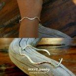 エンドレス ウェーブ スターリング シルバー カフ バングル from ハワイ [Wave Jewelry by MS] 海外受注