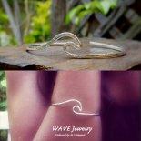ウェーブ スターリング シルバー カフ バングル from ハワイ [Wave Jewelry by MS] 海外受注