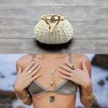 即納 シャークトゥース(サメの歯)オパール リング 14KGF / S925 [Simply Kai Jewelry ハワイ]  #011