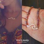 ウェーブ バー スターリング シルバー レインボー ビーズ ネックレス from ハワイ [Wave Jewelry by MS] 海外受注