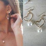 ホワイト パール ハート ピアス ゴールド [ Pukoa Pacific Pearls / ハワイ ] [海外受注]